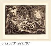 Joseph de Longueil after Charles Eisen, French (1730-1792), Rural Concert, etching and engraving (2014 год). Редакционное фото, фотограф Artokoloro / age Fotostock / Фотобанк Лори