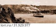 Купить «Niagara, Queenstown i.e, Queenston Heights from Lewiston, Rivers, United States, New York (State), Niagara River, Canada, Ontario, Niagara River, Canada...», фото № 31929977, снято 7 мая 2011 г. (c) age Fotostock / Фотобанк Лори