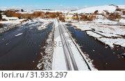Купить «Beautiful snowy landscape during winter 4k», видеоролик № 31933297, снято 28 марта 2018 г. (c) Wavebreak Media / Фотобанк Лори