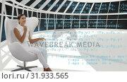 Купить «Woman sitting in a white room», видеоролик № 31933565, снято 27 марта 2019 г. (c) Wavebreak Media / Фотобанк Лори