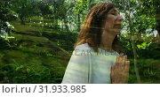 Купить «Woman meditating with nature 4k», видеоролик № 31933985, снято 5 апреля 2019 г. (c) Wavebreak Media / Фотобанк Лори