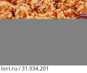 Купить «Arroz empedrado con Bacalao - Spanish Rice with cod and beans of Valencia», фото № 31934201, снято 15 ноября 2019 г. (c) easy Fotostock / Фотобанк Лори
