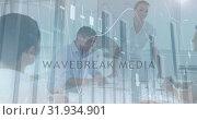 Купить «Woman explaining to colleagues in an office 4k», видеоролик № 31934901, снято 27 марта 2019 г. (c) Wavebreak Media / Фотобанк Лори