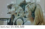 Купить «Group of call centre agent answering messages», видеоролик № 31935589, снято 5 апреля 2019 г. (c) Wavebreak Media / Фотобанк Лори