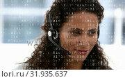 Купить «Call centre agent happily talking to a client », видеоролик № 31935637, снято 5 апреля 2019 г. (c) Wavebreak Media / Фотобанк Лори
