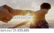 Купить «Couple running together hand  in hand 4k», видеоролик № 31935685, снято 9 января 2019 г. (c) Wavebreak Media / Фотобанк Лори