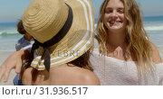 Купить «Young female friends embracing each other 4k», видеоролик № 31936517, снято 9 января 2019 г. (c) Wavebreak Media / Фотобанк Лори
