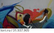 Купить «Graffiti artist painting with aerosol spray 4k», видеоролик № 31937905, снято 4 февраля 2019 г. (c) Wavebreak Media / Фотобанк Лори