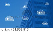 Купить «Upload in the digital cloud 4k», видеоролик № 31938813, снято 14 мая 2019 г. (c) Wavebreak Media / Фотобанк Лори