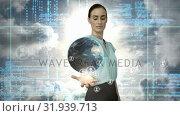 Купить «Global connection», видеоролик № 31939713, снято 14 мая 2019 г. (c) Wavebreak Media / Фотобанк Лори