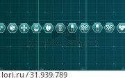 Купить «Medical science symbols on a grid», видеоролик № 31939789, снято 24 мая 2019 г. (c) Wavebreak Media / Фотобанк Лори