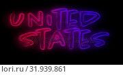 Купить «United States text 4k», видеоролик № 31939861, снято 24 мая 2019 г. (c) Wavebreak Media / Фотобанк Лори