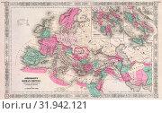 Купить «1864, Johnson Map of the Roman Empire», фото № 31942121, снято 26 января 2017 г. (c) age Fotostock / Фотобанк Лори