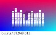 Купить «Music qualizer bars», видеоролик № 31948013, снято 24 мая 2019 г. (c) Wavebreak Media / Фотобанк Лори