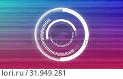 Купить «Futuristic circles and static», видеоролик № 31949281, снято 8 мая 2019 г. (c) Wavebreak Media / Фотобанк Лори