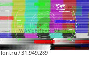 Купить «Viewfinder and colorful static», видеоролик № 31949289, снято 8 мая 2019 г. (c) Wavebreak Media / Фотобанк Лори