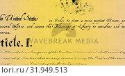 Купить «Written constitution of the United States 4k», видеоролик № 31949513, снято 24 мая 2019 г. (c) Wavebreak Media / Фотобанк Лори