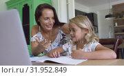 Купить «Mother teaching his son mathematics at table in a comfortable home 4k», видеоролик № 31952849, снято 12 марта 2019 г. (c) Wavebreak Media / Фотобанк Лори