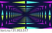 Pink paint and neon lit moving tunnel. Стоковое видео, агентство Wavebreak Media / Фотобанк Лори