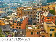 Castelletto district in Genova (2019 год). Стоковое фото, фотограф Роман Сигаев / Фотобанк Лори