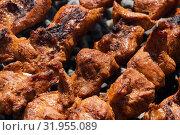 Купить «Шашлык из мяса свиньи», фото № 31955089, снято 14 июля 2019 г. (c) А. А. Пирагис / Фотобанк Лори