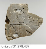 Mesu Smelling a Lotus, New Kingdom, Dynasty 18, ca. 1525–1504 B.C., From Egypt, Upper Egypt, Thebes, Dra Abu el-Naga, Tomb of Heri (TT 12), Limestone... (2017 год). Редакционное фото, фотограф © Copyright Artokoloro Quint Lox Limited / age Fotostock / Фотобанк Лори