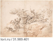 The Triumph of Cybele, ca. 1697, Brush and brown wash over black chalk, 14-3/4 x 20-7/8 in. (37.5 x 53.0 cm), Drawings, Luca Giordano (Italian, Naples 1634–1705 Naples) (2017 год). Редакционное фото, фотограф © Copyright Artokoloro Quint Lox Limited / age Fotostock / Фотобанк Лори