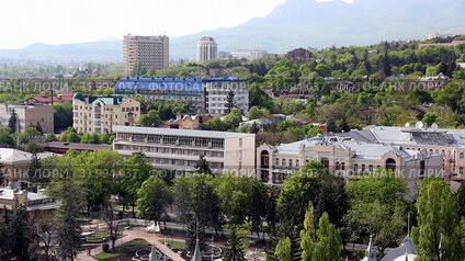 Вид на Пятигорск с горы Горячая