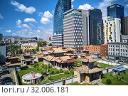 Купить «Mongolia, Ulan-Bator, Choijin Lama monastery in the city centre from above.», фото № 32006181, снято 24 июля 2018 г. (c) age Fotostock / Фотобанк Лори