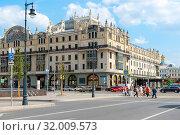 "Гостиница ""Метрополь"" (Hotel Metropol Moscow). Москва (2019 год). Редакционное фото, фотограф Александр Щепин / Фотобанк Лори"