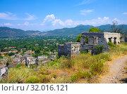 Купить «Город-призрак Каякей в районе Фетхие, Турция», фото № 32016121, снято 20 июня 2019 г. (c) Natalya Sidorova / Фотобанк Лори