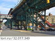 Broadway and 125th Street subway station of IRT Broadway - Seventh Avenue Line. New York City (2019 год). Редакционное фото, фотограф Валерия Попова / Фотобанк Лори