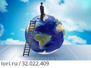 Купить «Businessman on top of the world», фото № 32022409, снято 20 сентября 2019 г. (c) Elnur / Фотобанк Лори