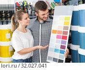 Купить «pair with palette scheme», фото № 32027041, снято 17 мая 2018 г. (c) Яков Филимонов / Фотобанк Лори