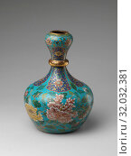 Купить «Vase, Qing dynasty (1644–1911), 18th century, China, Cloisonné enamel, H. 12 1/2 in. (31.8 cm), Cloisonné, The delicate shades of pink found in the...», фото № 32032381, снято 7 мая 2017 г. (c) age Fotostock / Фотобанк Лори