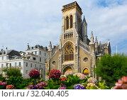 Eglise Sainte-Eugenie, Biarritz (2019 год). Стоковое фото, фотограф Яков Филимонов / Фотобанк Лори