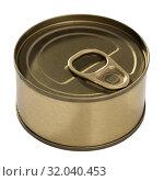 Купить «Bronze in can with ring pull, top view of packaging collection», фото № 32040453, снято 23 августа 2019 г. (c) Яков Филимонов / Фотобанк Лори