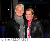 Guido Cantz und Mirja Boes bei der TV Show Florian Silbereisen. Стоковое фото, фотограф Zoonar.com/Axel Kammerer / age Fotostock / Фотобанк Лори