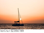 Photo Picture of a Sail Boat Silhouette at Sunset. Стоковое фото, фотограф Zoonar.com/ALB / easy Fotostock / Фотобанк Лори