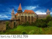 Купить «Photo of Corvin Castle which is histirical landmark», фото № 32052709, снято 21 сентября 2017 г. (c) Яков Филимонов / Фотобанк Лори