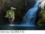 Купить «Pure mountain waterfall Cantonigros», фото № 32059113, снято 26 марта 2017 г. (c) Яков Филимонов / Фотобанк Лори