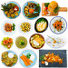 Купить «Set of various appetizing dishes with vegetables isolated on white background», фото № 32059129, снято 22 августа 2019 г. (c) Яков Филимонов / Фотобанк Лори
