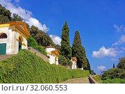 Santuario Giubilare delle Sette Chiese, drei Kapellen. Стоковое фото, фотограф Bernd J. W. Fiedler / age Fotostock / Фотобанк Лори