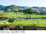 Club de Golf El Higueral in Benahavís, Málaga, Andalusia, Spain, Europe. Стоковое фото, фотограф José Luis Hidalgo Salguero / easy Fotostock / Фотобанк Лори