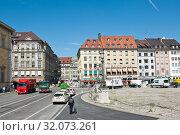 Купить «Городской пейзаж Мюнхена. Солнечный летний день. Бавария. Германия», фото № 32073261, снято 19 июня 2019 г. (c) E. O. / Фотобанк Лори