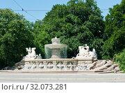 Купить «Wittelsbach fountain in Munich. Bavaria. Germany», фото № 32073281, снято 18 июня 2019 г. (c) E. O. / Фотобанк Лори