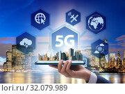 5G mobile technology concept - high internet speed. Стоковое фото, фотограф Elnur / Фотобанк Лори