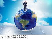 Купить «Businessman on top of the world», фото № 32082561, снято 20 сентября 2019 г. (c) Elnur / Фотобанк Лори