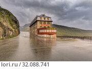 Купить «Furka Pass, Gletsch, Valais, Switzerland, Europe.», фото № 32088741, снято 15 августа 2019 г. (c) age Fotostock / Фотобанк Лори