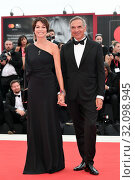 Stefania Rocca, Carlo Capasa during the opening ceremony and screening of 'La Verite' at the 76th annual Venice International Film Festival, in Venice, Italy, 28 August 2019. Редакционное фото, фотограф AGF/Maria Laura Antonelli / age Fotostock / Фотобанк Лори